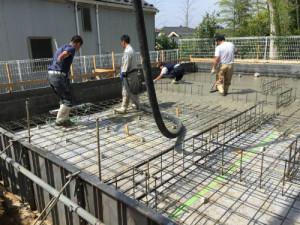 耐圧コンクリート打設④
